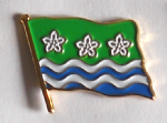 Cumberland County Flag Enamel Pin Badge